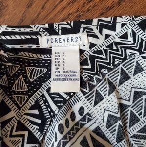 Forever 21 Dresses - Black and White Aztec Print Dress